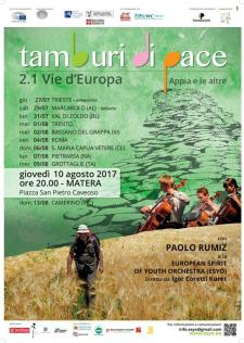 Tamburi di pace 2.1  - 10 Agosto 2017 - Matera