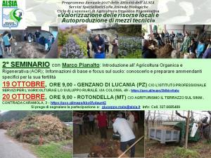Valorizzazione delle risorse locali e Autoproduzione di mezzi tecnici - 20 ottobre 2017 - Matera
