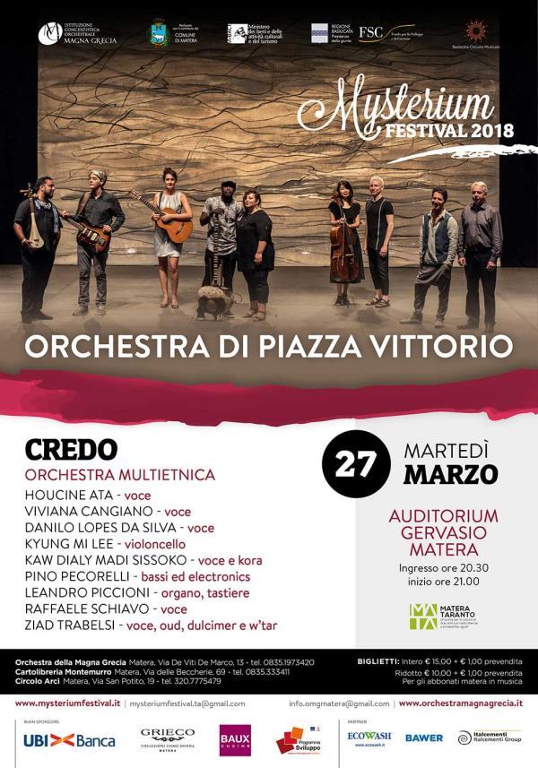 Credo - Orchestra multietnica - 27 marzo 2018