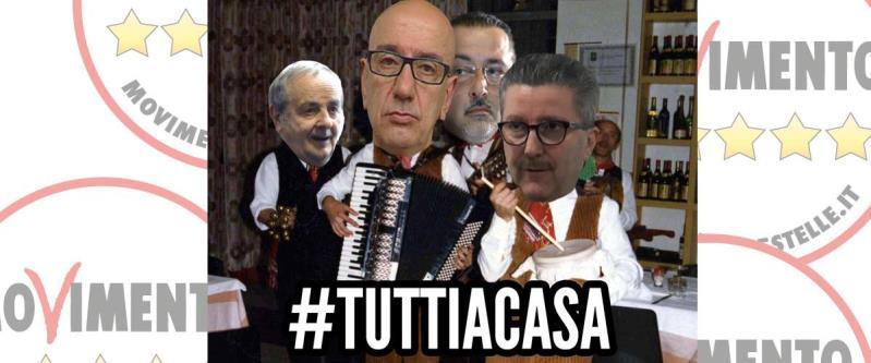 #Tuttiacasa - manifestazione del Movimento 5 Stelle