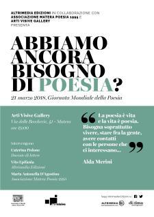 Abbiamo ancora bisogno di poesia? - 21 marzo 2018 - Matera
