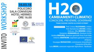 Cambiamenti climatici: conoscere, prevenire e governare – piani d'azione contro gli eventi estremi - 16 marzo 2018 - Matera