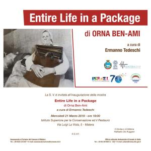 Entire Life in a Package - Matera