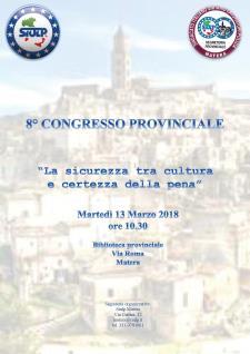 La sicurezza tra cultura e certezza della pena - 13 marzo 2018 - Matera