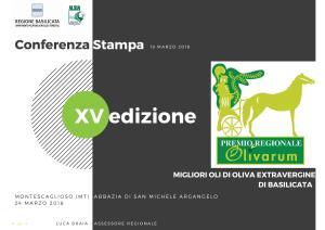 Premio Olivarum 2018  - Matera