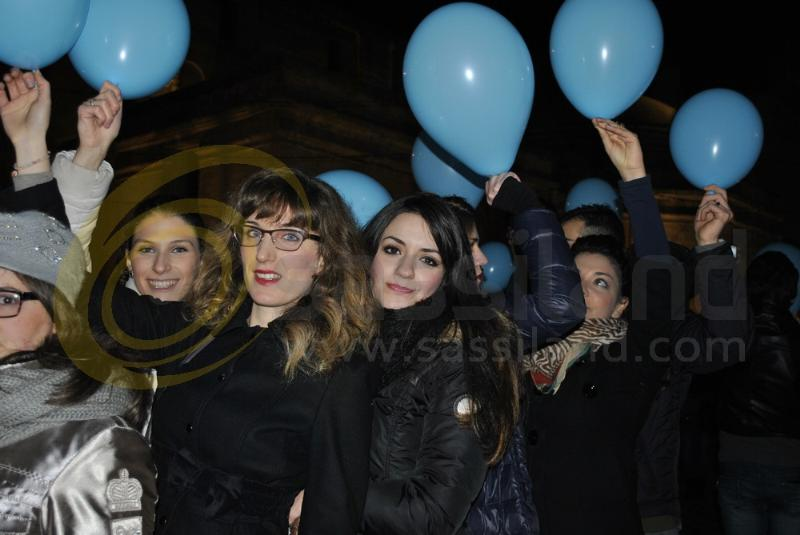 Flash-mob per Matera 2019 in piazza Vittorio Veneto - 28 dicembre 2013 (foto SassiLand)