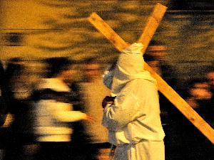 Scatto realizzato durante la processione del Venerdì Santo a Civitavecchia