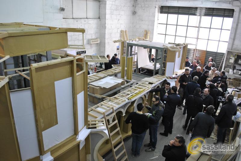 Conferenza stampa sullo stato dei lavori sul Carro Trionfale - 1 marzo 2014 (foto SassiLand)