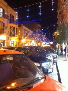 La foto è stata scattata tra le vie della città di Matera