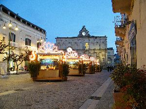 Matera, la magnificenza di Via Ridola e Palazzo Lanfranchi arricchita dai presepi. 4 gennaio 2011.