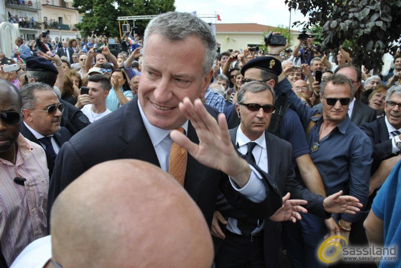 Il sindaco di New York, Bill De Blasio a Grassano (MT) - 24 luglio 2014 (foto SassiLand)