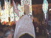 Matera p.zza.V.Veneto 2 Luglio 2010. Cavaliere con icona della Madonna sul mantello. Foto Pino Losignore