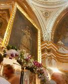 Il quadro nella Chiesa di San Francesco di Paola, capolinea della processione dei pastori