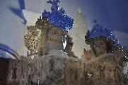 La foto vuole rappresentare la voglia di tutti i materani di rivedere riaperta al culto la Cattedrale e porre fine alla migrazione della Madonna.