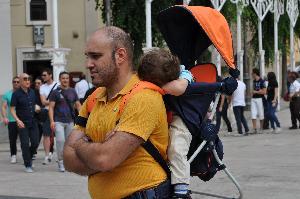 Foto di Francesco Morelli. Turisti la mattina del 2 luglio in centro.