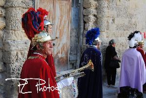 Il famoso trombettiere in processione!!