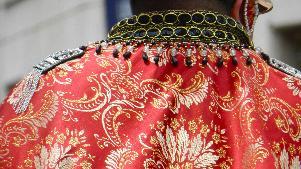 Particolare di un Cavaliere durante la Cavalcata - Piazza San Francesco D'Assisi - 2 Luglio 2011