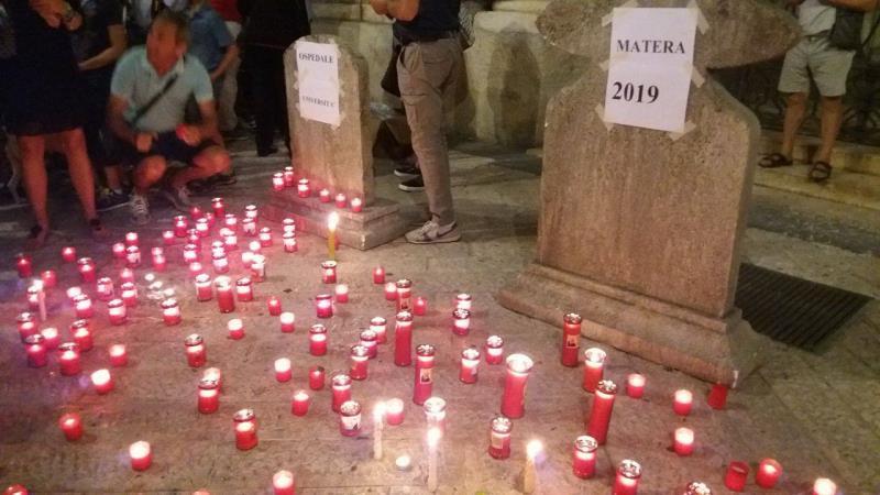 Matera: Manifestazione contro il sindaco De Ruggieri - 24 luglio 2016
