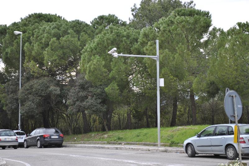 Telecamera all´ingresso di Matera, via Timmari (foto SassiLand)
