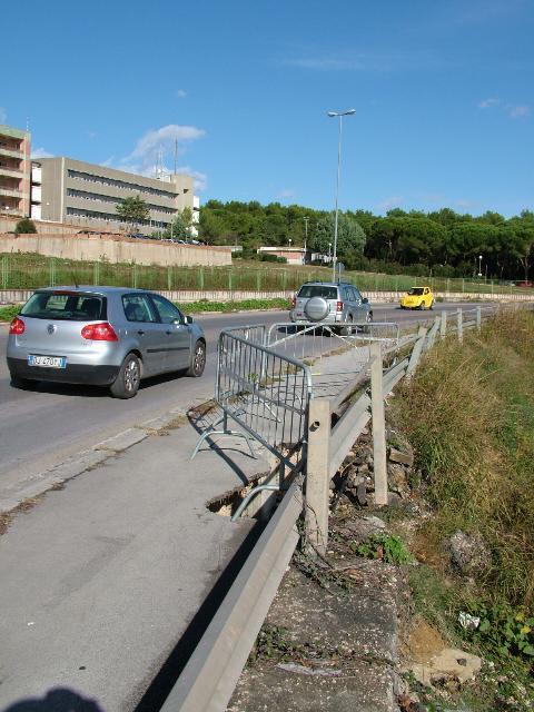 La circonvallazione: strada a rischio