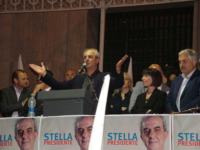 Franco Stella in campagna elettorale