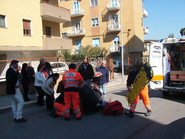 GRAVE INCIDENTE IERI IN VIA MONTESCAGLIOSO