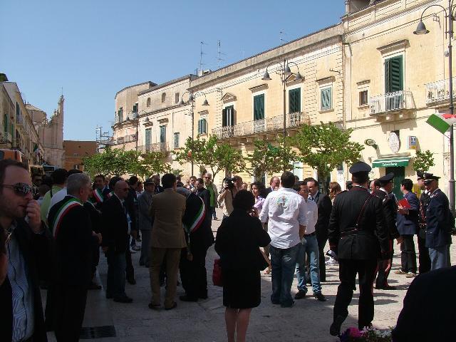 I DIVIETI AL TRAFFICO PER LA VISITA DI NAPOLITANO (foto martemix)