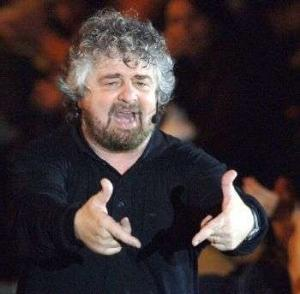 Beppe Grillo in piazza