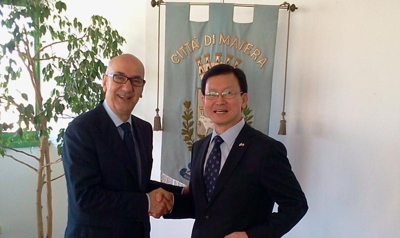 Ambasciatore coreano in visita a Matera