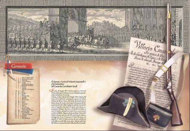 Calendario 2011 dei Carabinieri