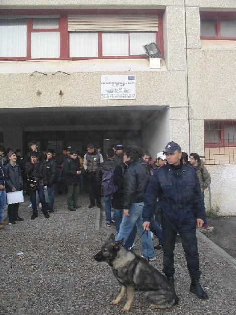 Carabinieri e cane antidroga