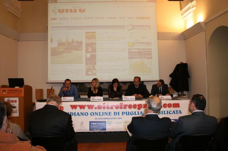 Conferenza stampa di presentazione di oltrefreepress.com
