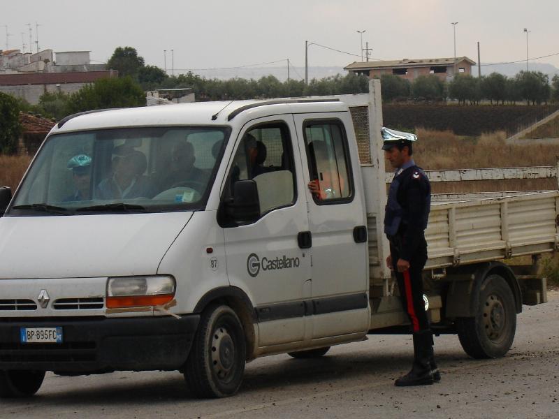 Controlli dei carabinieri sul lavoro