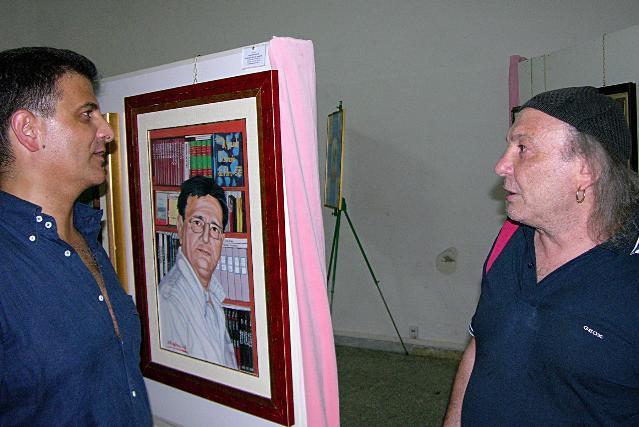 De Filippo visita la mostra di D´ Acunzo