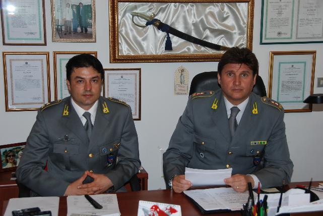 foto Ten.Col. Vito Simeone e Ten. Alberto Mollica