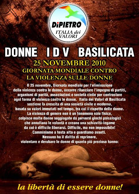 IDV - Giornata mondiale per l´eliminazione della violenza contro le donne