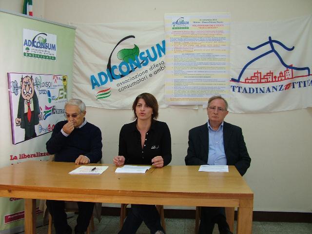 la conferenza stampa Adiconsum (foto Martemix)