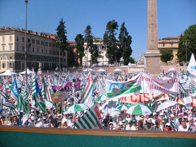 Manifestazione CISL a Roma