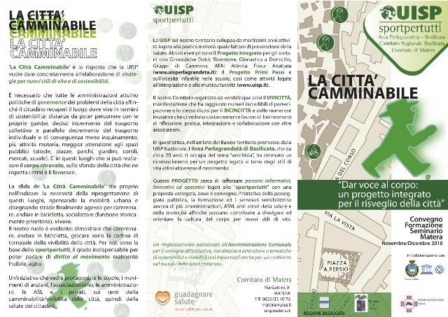 """Programma de """"La Città Camminabile"""""""