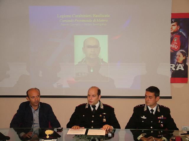 Un momento della conferenza stampa dei Carabinieri