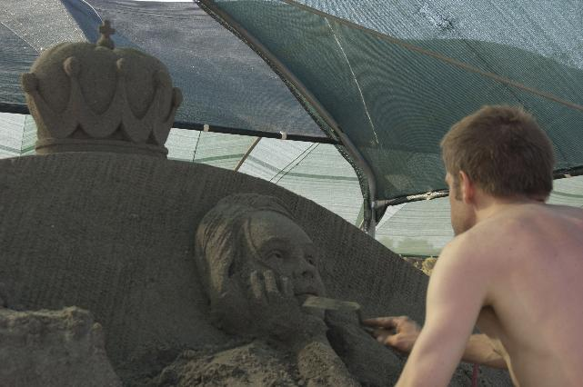 una scultura di sabbia