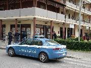 Volante della Polizia in via Foggia a Matera