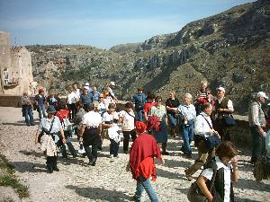 Turisti nei Sassi di Matera (Foto MARTEMIX)