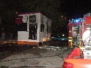 A fuoco il bar in un distributore di carburanti (foto martemix)