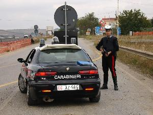 Carabinieri - posto di blocco - Matera