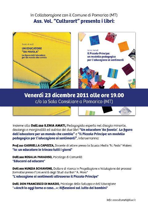 Didattica a Pomarico, presentazione di due libri - 23 dicembre 2011