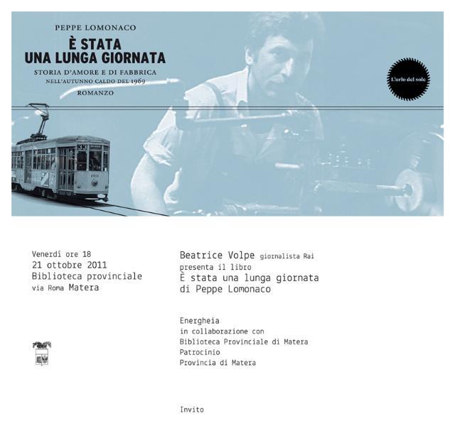Energheia presenta il nuovo libro di Peppe Lomonaco - 21 ottobre 2011