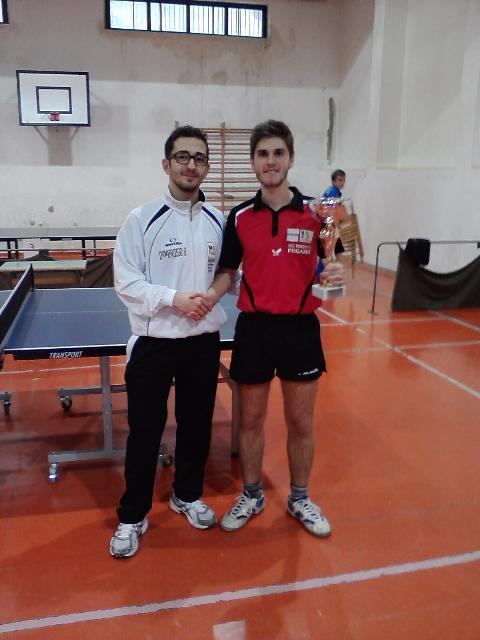 Francesco Messa, vincitore del torneo di quarta categoria di Basilicata di Miglionico (MT)
