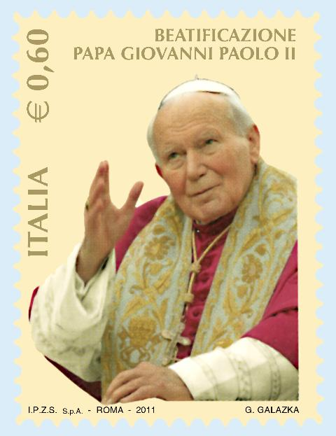 Francobollo su Giovanni Paolo II
