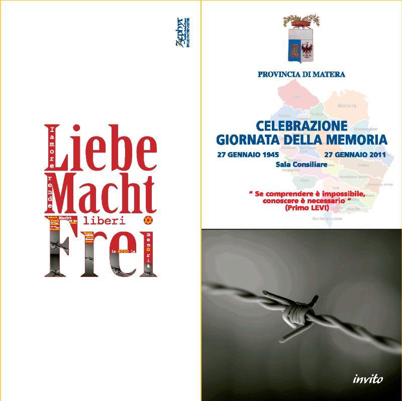 Giornata della Memoria organizzata dalla Provincia di Matera